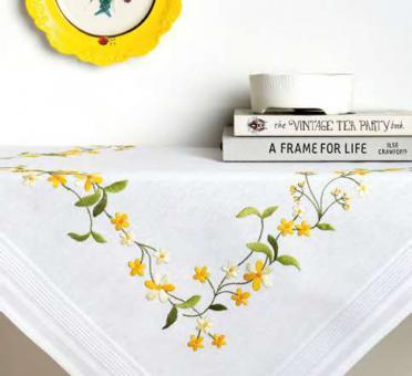 Stickpackung Rico Spannstich Gelbe Blumen