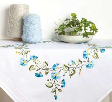 Rico Stickpackung Spannstich Blaue Blumenranken Blumen