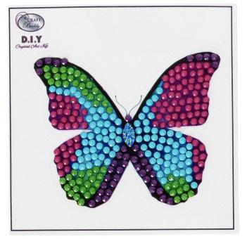 Crystal Card Sticker Kit Schmetterling