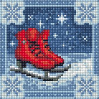 Diamond Painting Weihnachten Eislaufschuhe