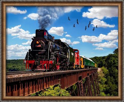 Diamond Painting Lokomotive