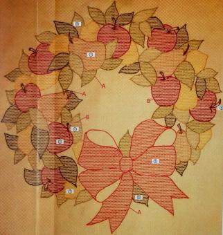 Stickpackung Mitteldecke Herbst