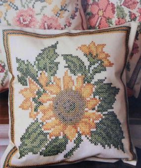 Stickpackung  Kissen Sonnenblume