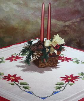 Stickpackung Mitteldecke Weihnachten Weihnachtsstern