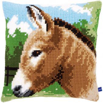 Stickpackung Kreuzstichkissen Esel