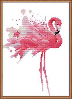 "Cross Stich Stickpackung ""Flamingo"""