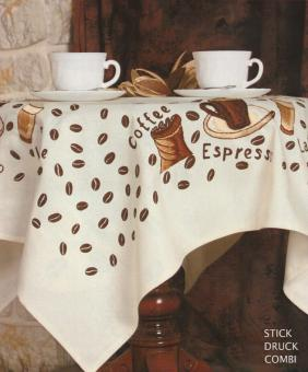 Stickpackung Mitteldecke Kaffee