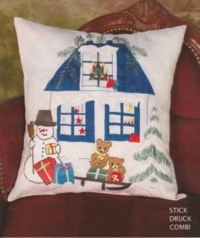 Stickpackung Kissen Weihnachten