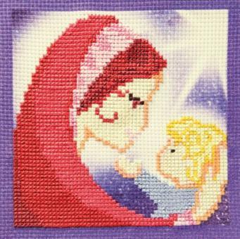 Stickpackung Grußkarte Maria