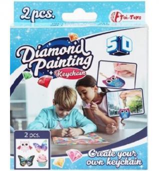 Diamond Painting Schlüsselanhänger 4er-Set