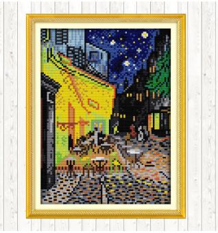 "Cross Stich Stickpackung ""Van Gogh Coffee shop"""