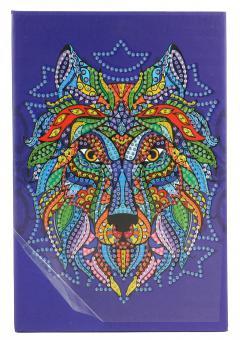 Diamond Painting Notizbuch Wolf